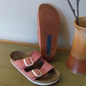 Birkenstock Softly Sport Arizona Sandals Faded Red